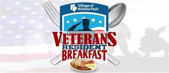 Richton Park Veterans Resident Breakfast Logo