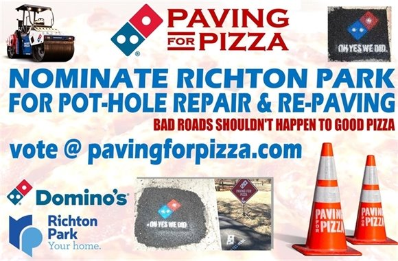 Paving for Pizza Richton Park