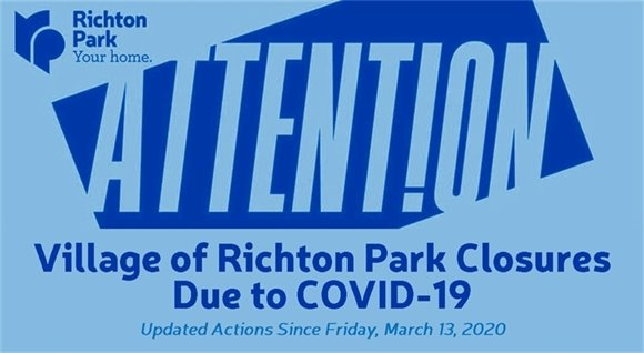 Village of Richton Park Temporary Closures Due to COVID-19