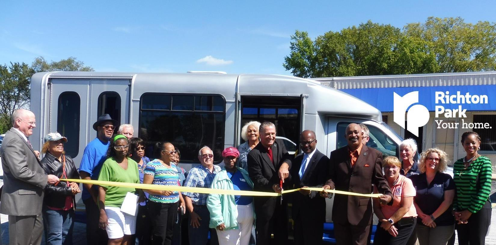 Richton Park Pace Bus Ribbon Cutting Cover Pic