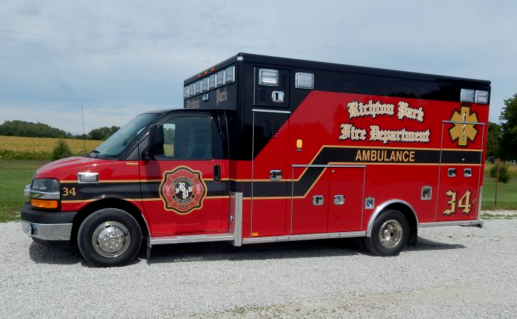 Richton Park Emergency Services Ambulance - Side View
