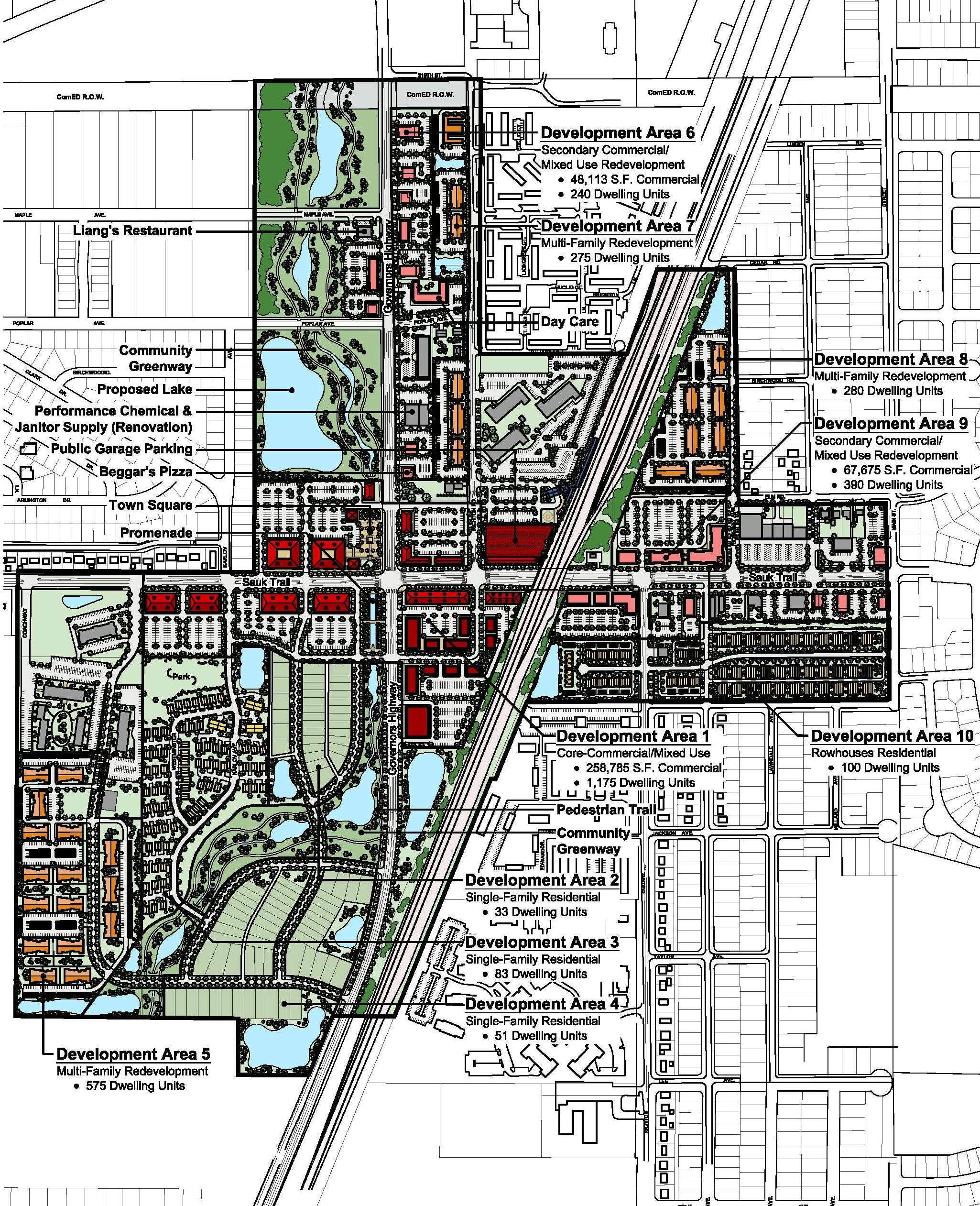 Town Center Illustrative Site Plan - 2 cut