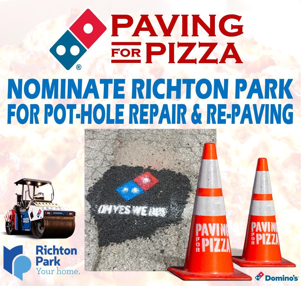 Paving for Pizza 2018 sq - no website drop