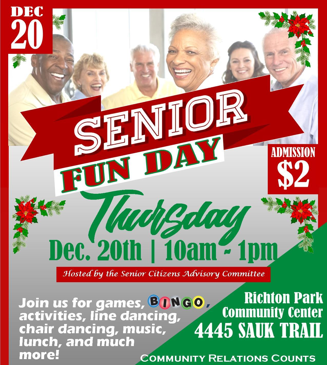 Senior Fun Day Holiday 18 sq