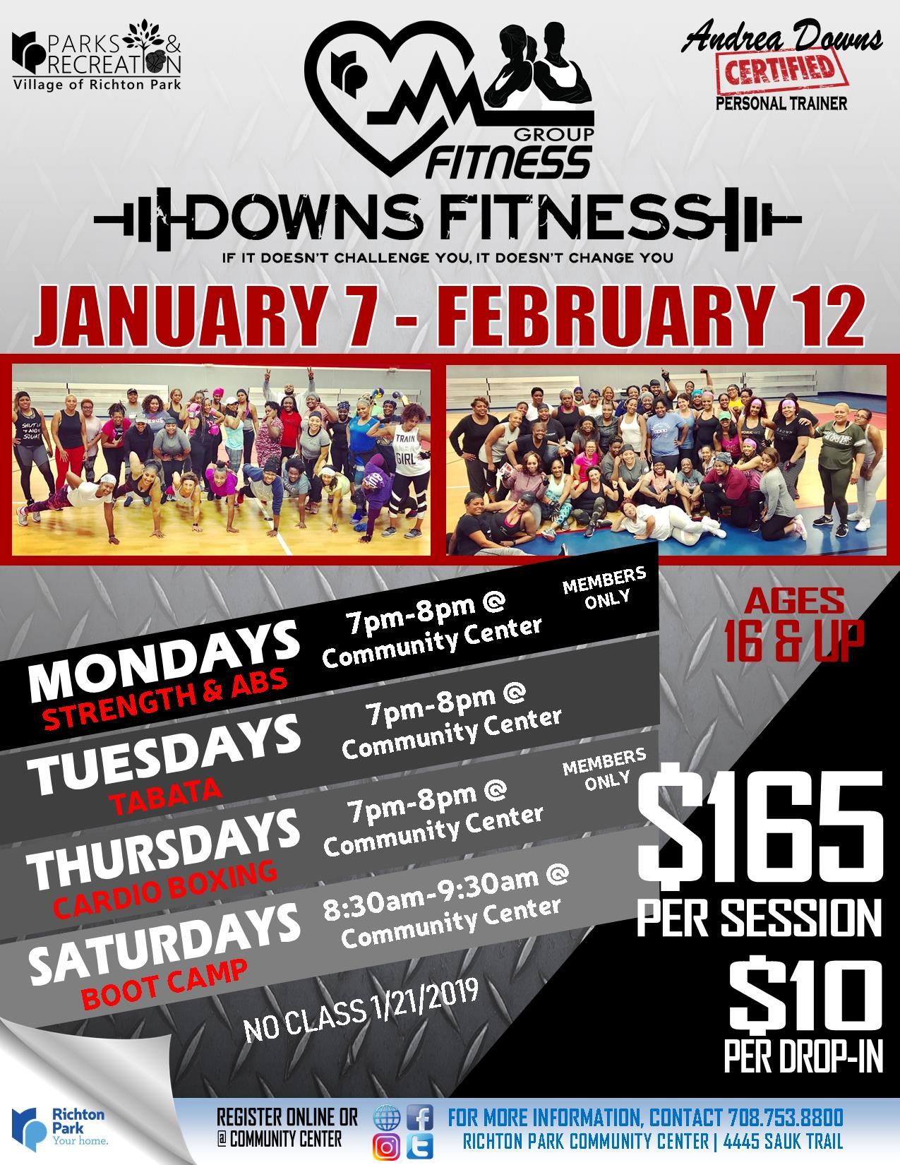 Group Fitness - Downs Fitness WINTER 2019