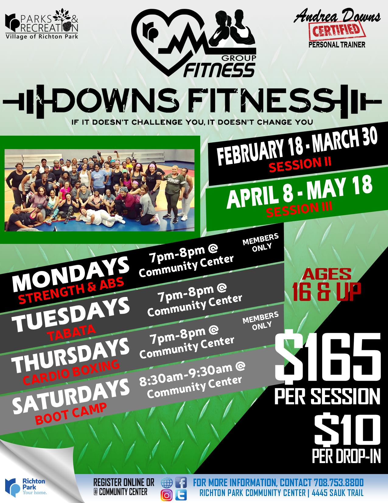 Group Fitness - Downs Fitness WINTER 2019.5 Feb-Mar