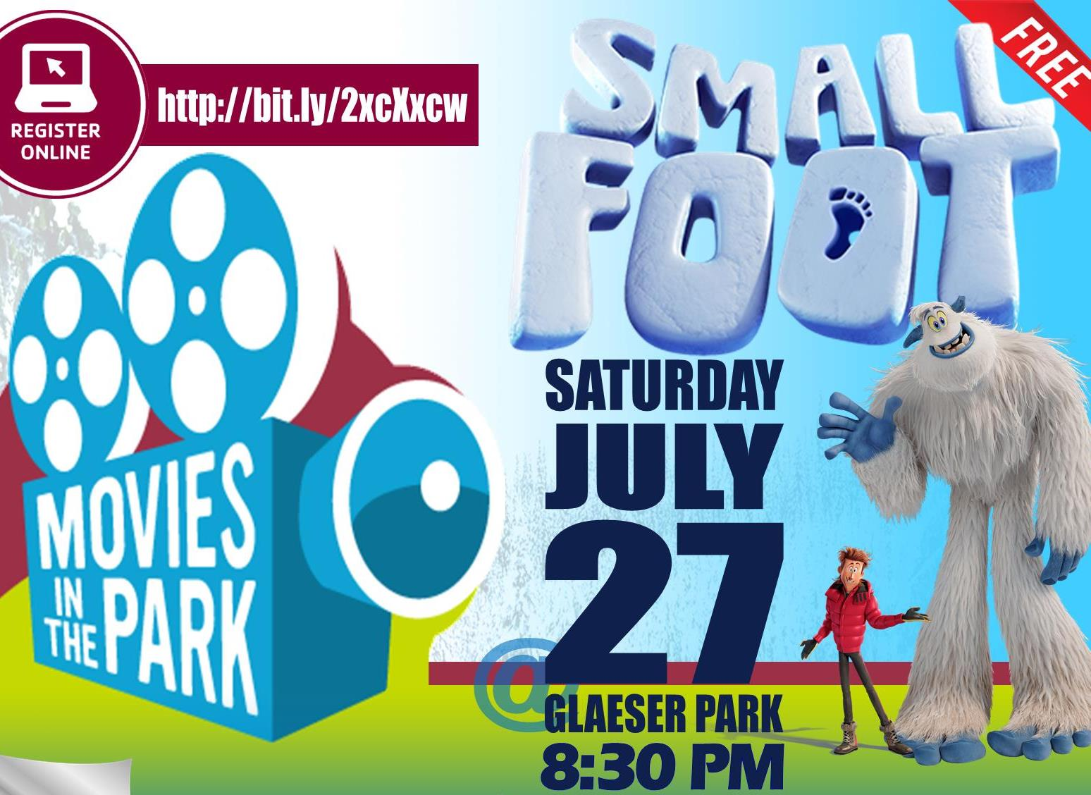 Movies in the Park - Smallfoot - July 2019 sq