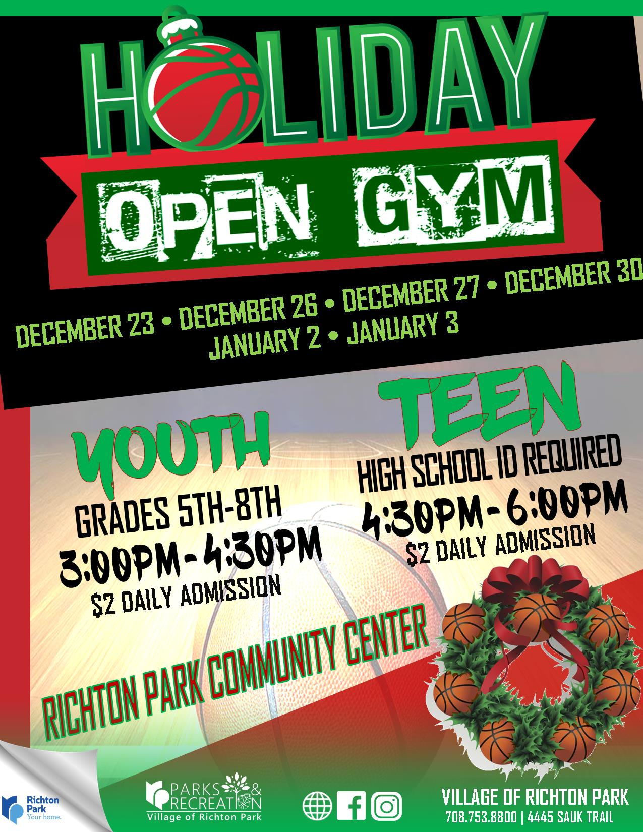 Open Gym Holiday 2019