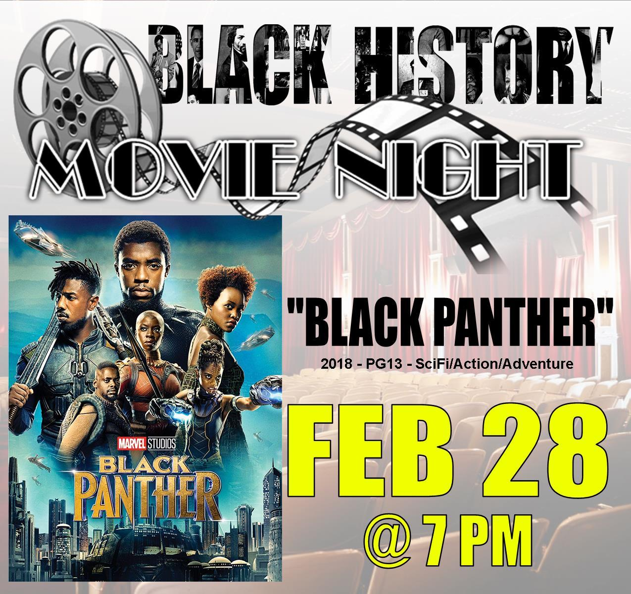 Black History 2020 - Movie Night - Black Panther