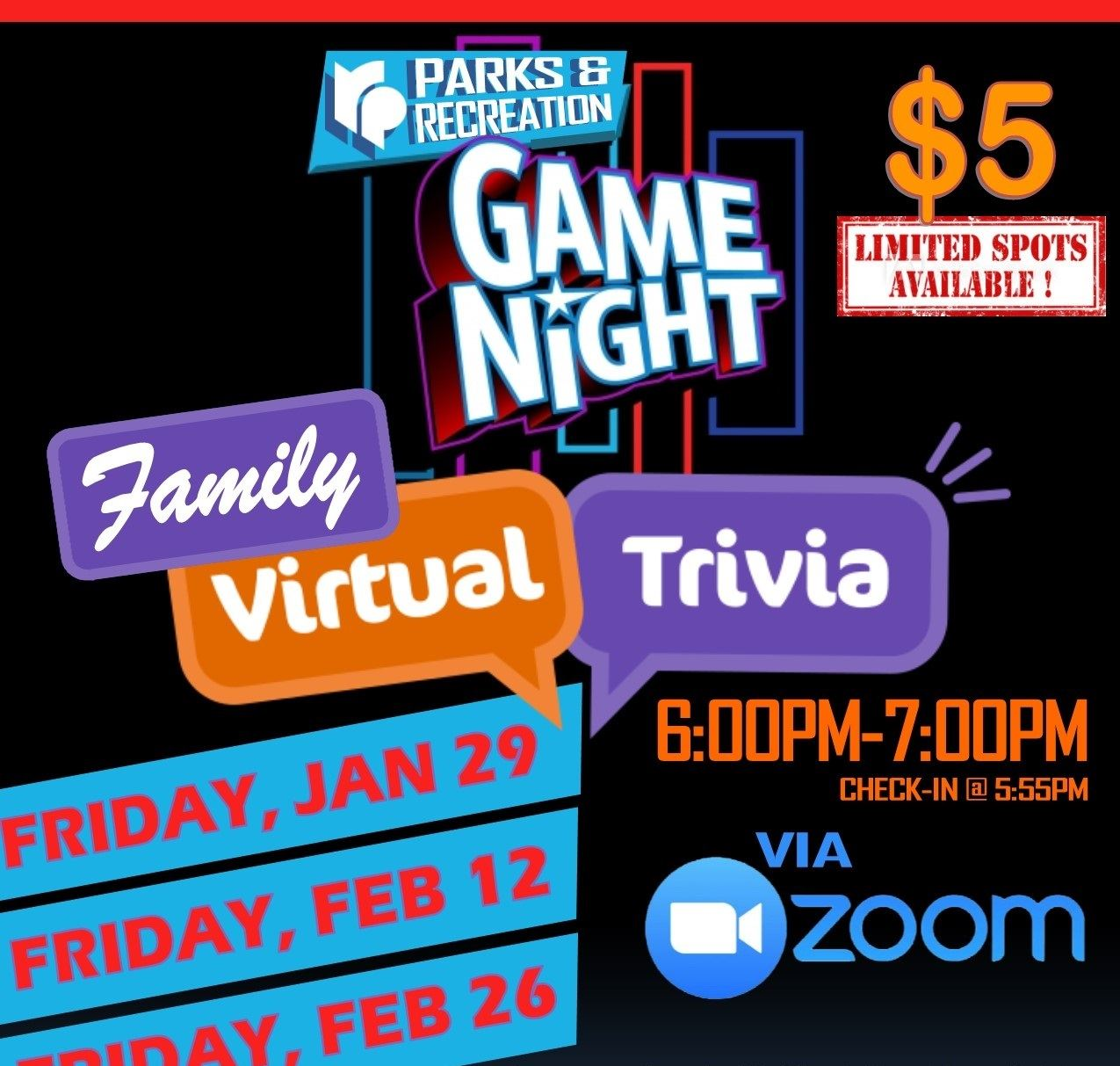 GAME NIGHT - Virtual TRIVIA 2021 sq