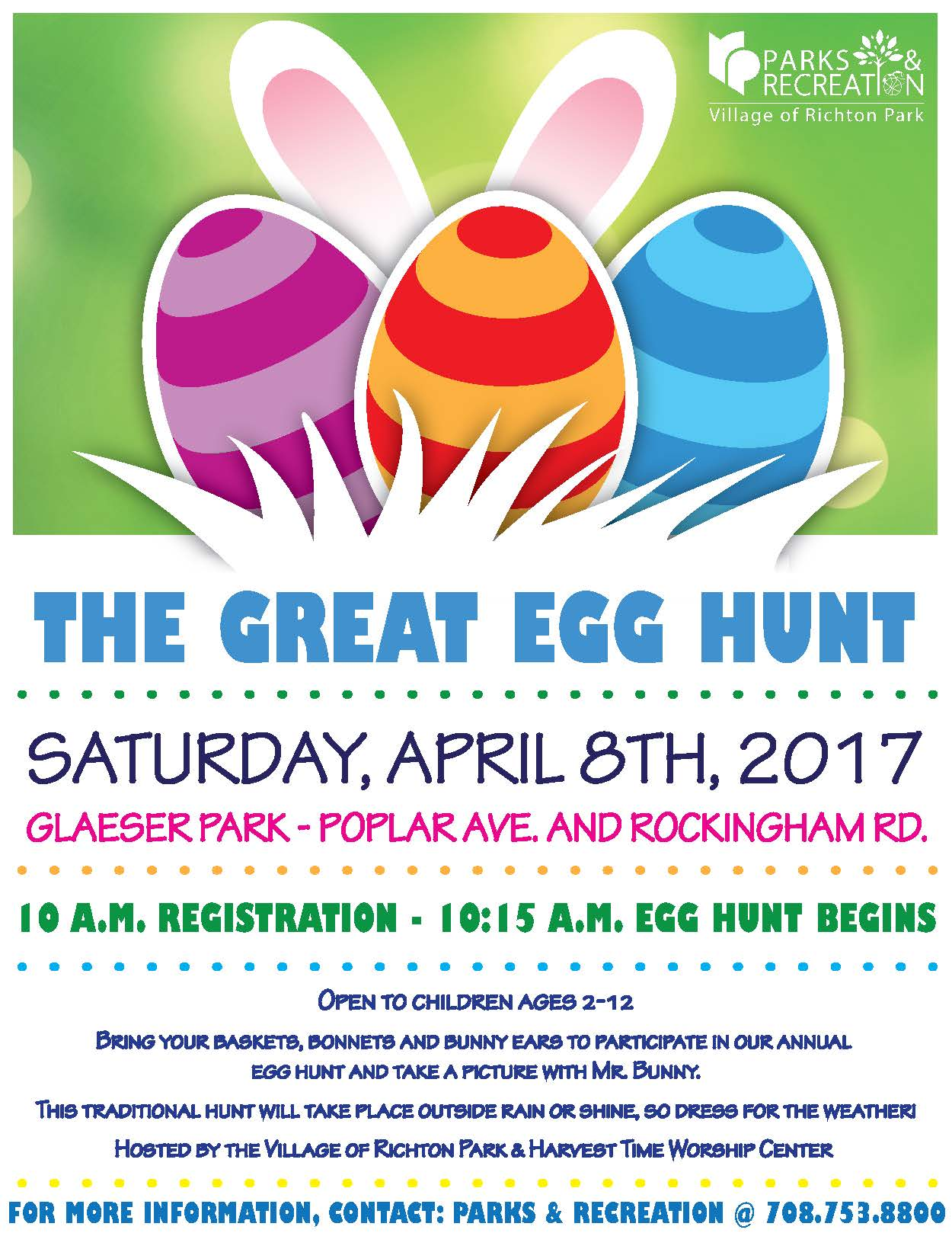 The Great Egg Hunt 2017 Flyer